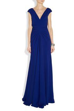 Lela Rose|Ruched crepe gown|NET-A-PORTER.COM