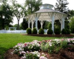 A pretty gazebo serves as the focal point for this outdoor wedding ceremony at Fauquier Springs Country Club! {Fauquier Springs Country Club}