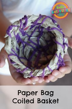 paper bag coiled basket