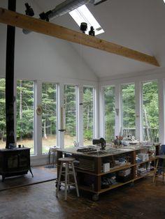 Beautiful artist studio