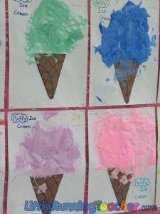 Puffy ice cream cones