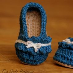 Ruffle Ballet Flat Baby Bootie  Crochet Pattern