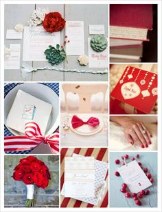 French Style Wedding Collage