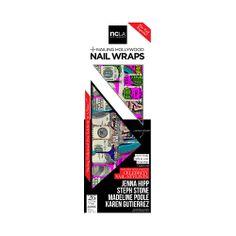 I love the ncLA Seeing Signs Nail Wraps from LittleBlackBag en vogue, fowl play, ncla, beauti, nails, nail wrap, nail hollywood, galaxi, nail art