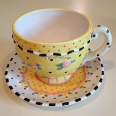 Mary Engelbreit Rhapsody Cup Saucer Coffee Tea 2001 - on eBay