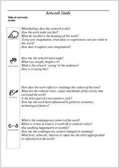 Frames Worksheet - Mr Randall's classroom: HSC Visual Arts - New Case Study