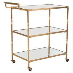 Gold Bar Cart | Styl