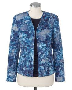 Indigo blossom jacket