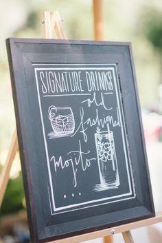 signature drinks.