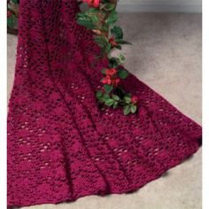 Free Lace Enchantment Afghan Crochet Pattern.