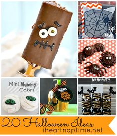 20 Halloween Ideas at iheartnaptime.net