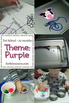 tot school 22 months - purple theme