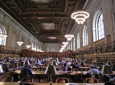 New York Public Library - New York City, New York - Main Reading Room - Carrière and Hastings Architects