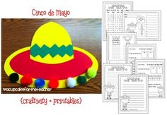 Cinco de Mayo craftivity and printables (from A Cupcake For The Teacher)