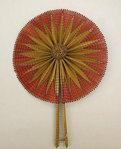 ~1860 Fan, American, made of straw~