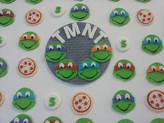 Teenage Mutant Ninja Turtles (TMNT) Cupcake Fondant Toppers