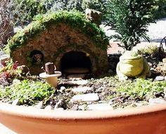 Mini container fairy garden