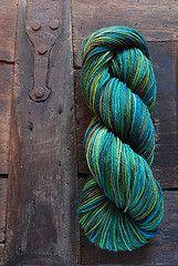 hand dyed yarn; beautiful.
