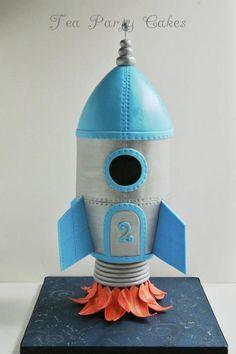 Rocket Ship Cake by craftsy