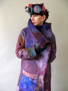 Seamless Reversible Nuno Felted Coat