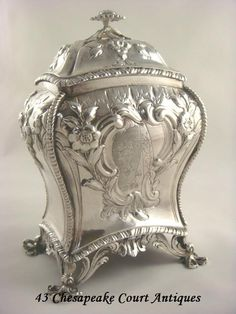 Antique Sterling Silver tea caddy