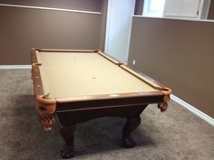 Brunswick Tremont pool table with upgraded pockets