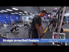 (1 of 6) - Straight Arms/Golf Posture - TRX Golf Warm-up Series by IMG Academy
