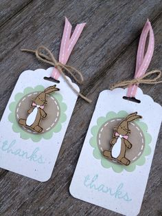 Margriet Creatief; stampin' Up!, scalloped tag topper punch, Baby, We've Grown, easter tag, paas label, hip hip hooray kit