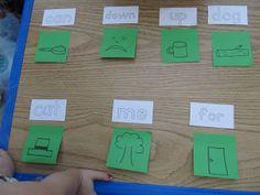 sight words reading preschool kindergarten phonics rhyming home school activity