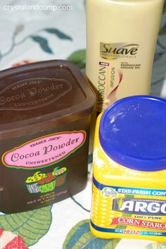 three ingredients for chocolate play dough (#glutenfree, too!)