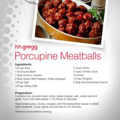 Looking for a new appetizer recipe to try? How about our Porcupine Meatballs!  #FoodieFriday