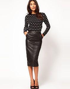 polka dots & leather
