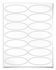 "Free blank label template download: WL-6050 Oval label template in Word .doc, PDF and other formats. View here: http://www.worldlabel.com/Pages/wl-ol6050.htm   | Size: 3.91"" x 1.325"" Oval label  