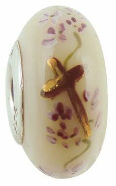 Fenton Art Glass -Amazing Grace bead