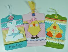 Stampin' Up! Punch Art  by Laura's Works of Heart: EASTER TAGS: