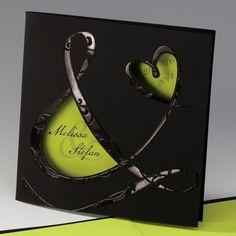 wedding cards, dates, weddings, names, uniqu card, cut outs