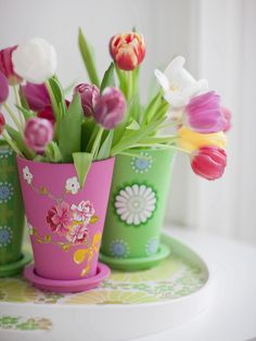 An idea for painting flower pots