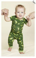 Bedhead Neon Dinosaur Baby Tee and Pant Set PJ