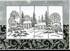 Black and white christma card
