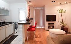 Sala e cozinha integrados!