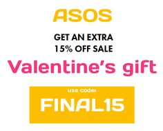 New ASOS code: FINAL15. http://asos-promo-code.co.uk/february-2014/