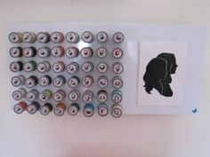 DIY Wall Mounted Thread Holders