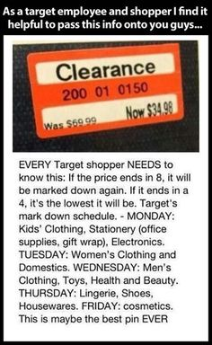 Target markdowns
