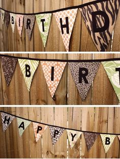 This would be a great idea for hanging on the wall. Hmm.  birthday parti, happy birthdays, birthday banners, upcom birthday, birthday idea