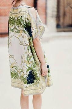 H Scarf print Kaftan Dress... This is a DIY!!!