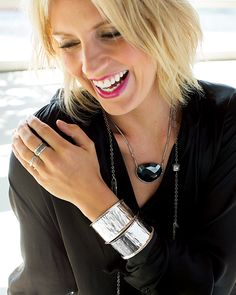 Repin if you love this classic black and silver date night look! #Silpada #FallFashion