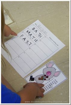 Stamping Spelling Words or Sight Words Station