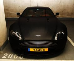 this is what beauty looks like, matte black aston martin