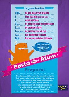 Pasta de atum #infografico #receitas