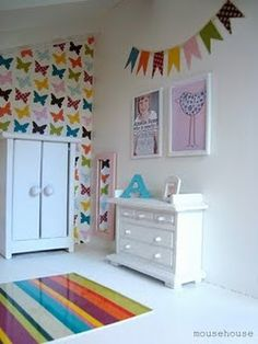 Such a cute butterfly wall!